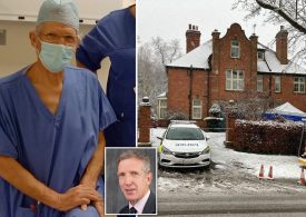 Doctor charged over stabbing of plastic surgeon, 65,  in Nottinghamshire