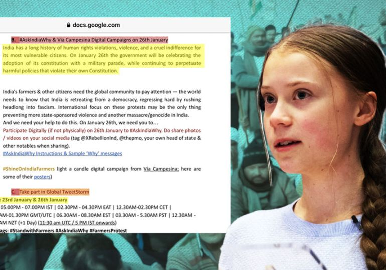 India Police PROBE into Greta Thunberg's 'protest toolkit' - As Fake as her Tweets'
