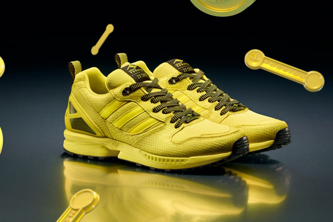 New adidas originals shoes are made of yellow kevlar ZX 5000 Torsion sneakers