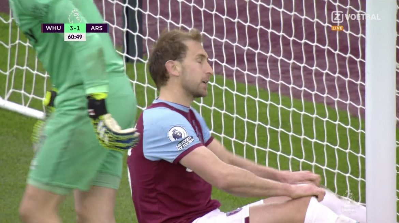 Premier League fixture between West Ham and Arsenal