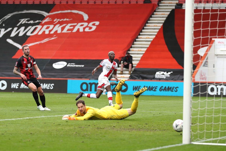 FA Cup Quarter-Final fixture between Bournemouth and Southampton - Djenepo scores