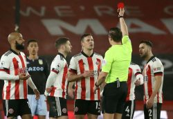 Phil Jagielka received a red card in Wednesday's Premier League fixture between Sheffield United and Aston Villa