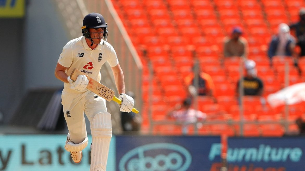 England's Dan Lawrence scored a half-century against India