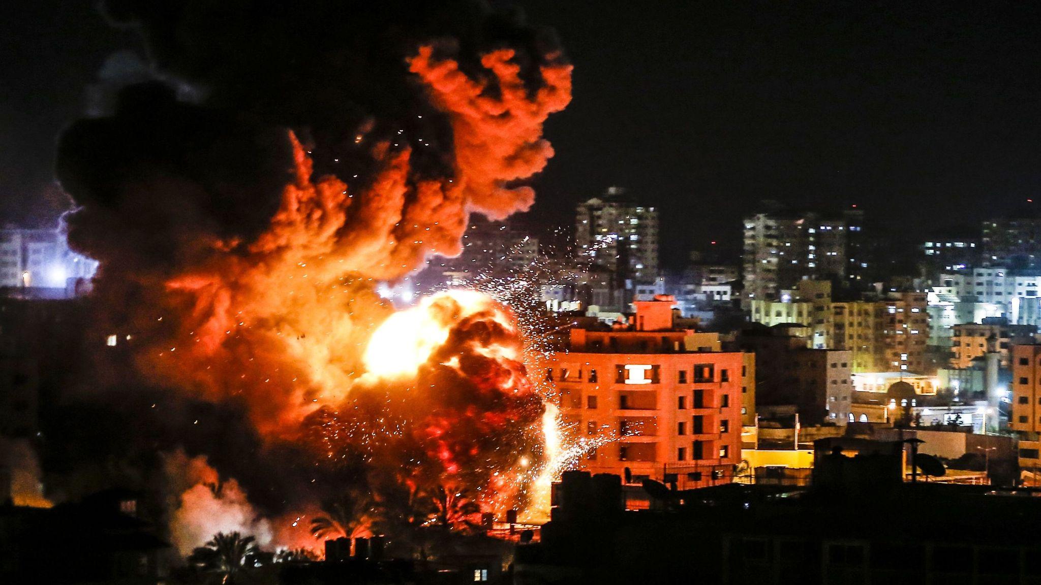 Palestinians report several killed in Israeli air raids on Gaza