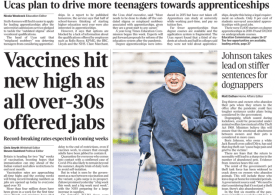 The Times - Vaccines available for everyone aged 30 and over