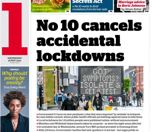 I news - No 10 cancels 'accidental' lockdowns& Jabs available for 30s+