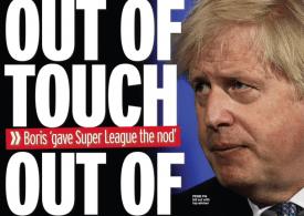 Daily Mirror - Boris 'backed' failed ESL, No 10 denies