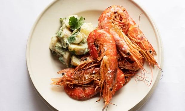 Recipe: Herbed potato salad, grilled prawns from Nigel Slater