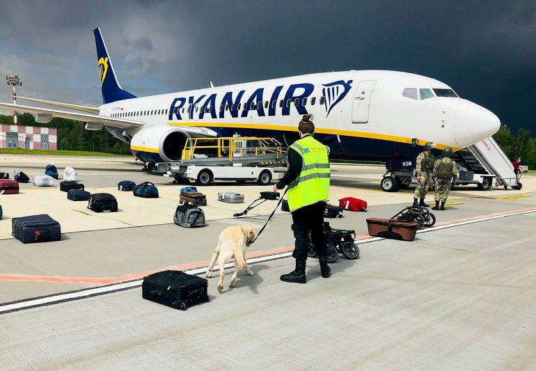 Outrage over Ryanair plane 'hijacking'