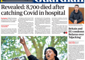 The Guardian - 8,700 died after catching Covid in hospital - Sasha Johnson not the target