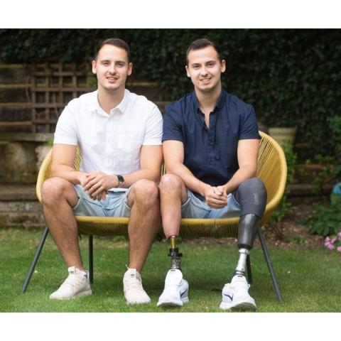 James with his twin brother - founde rof the Backyard leisure guys