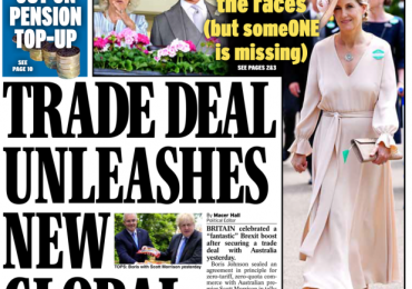 Daily Express - Trade deal unleashes new global Britain