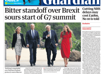 The Guardian - Brexit standoff sours start of G7 summit