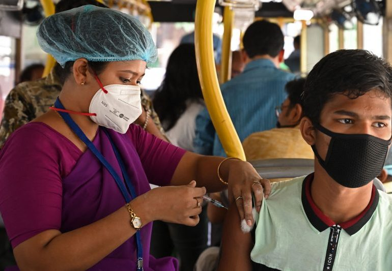 India launches new Covid drive vaccinating a record eight million people in ONE DAY