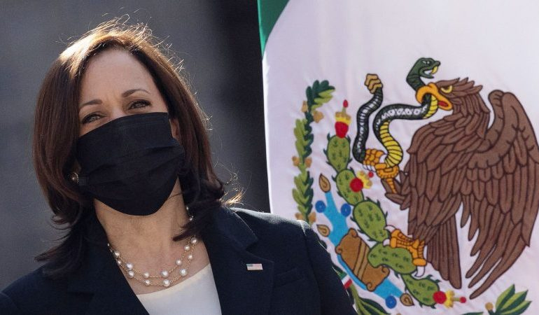 Kamala Harris defends not going to US-Mexico border