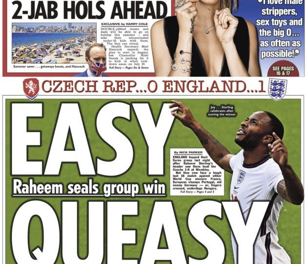 England goal hero Raheem Sterling looks like he's ready to stick one in the net again
