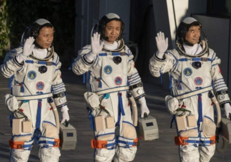 Chinese rocket carrying three astronauts to new space station blasts off