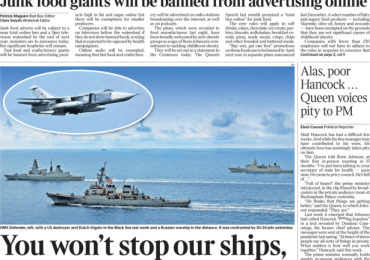 The Times - Defiant Britain tells Putin: 'You won't stop our ships'