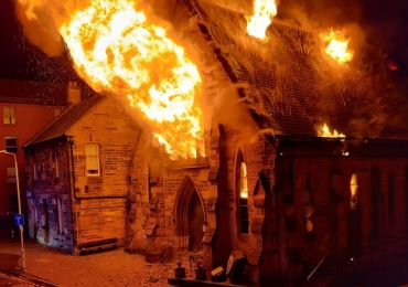 Blaze completely destroys 160-year-old church