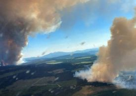 Wildfire in Canada town Burns down 90% of Village British Columbia heat wave