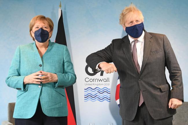 Boris Johnson to welcome Angela Merkel for last UK visit as Germany's leader