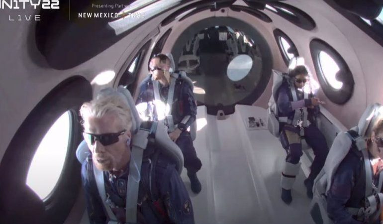 Virgin Galactic launch: Richard Branson becomes first billionaire in space