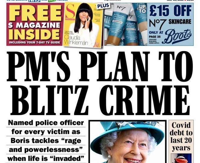 Sunday Express - 'PM plans to blitz crime'
