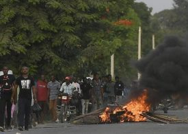 Violence erupts in Haiti ahead of slain president's funeral