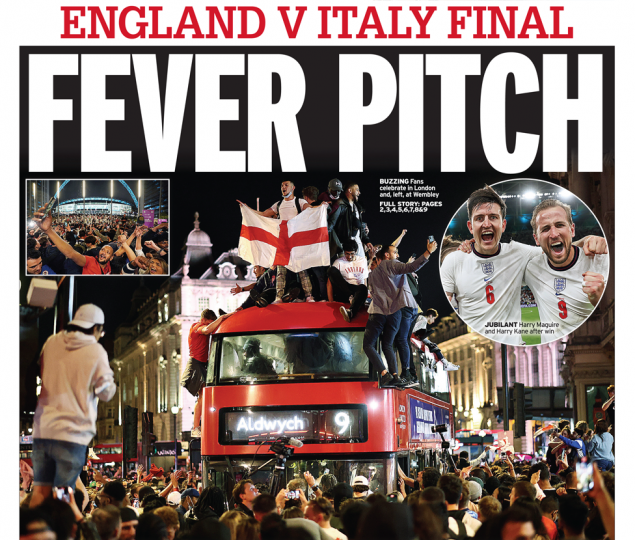 Daily Mirror - Calls for Bank Holiday if England win