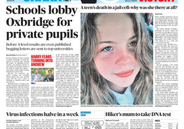 Sunday Times - 'School lobby Oxbridge for private pupils'