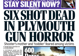 Daily Mail - '6 shot dead in UK shooting horror'