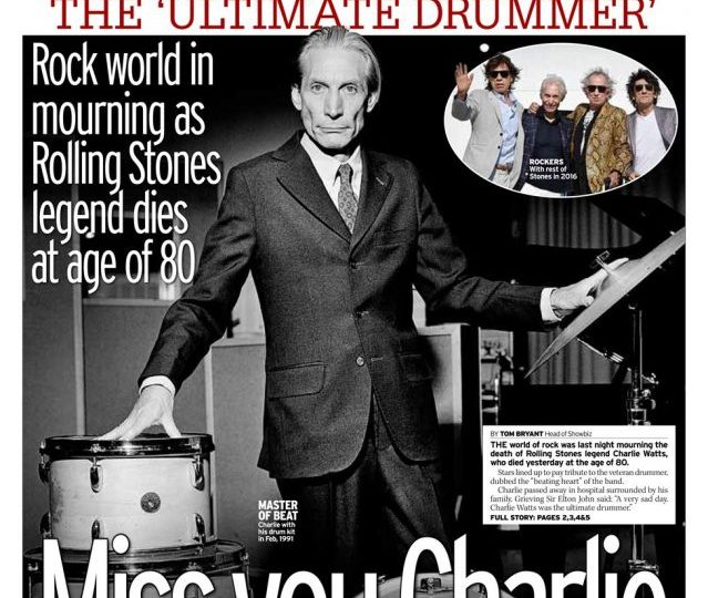 Daily Mirror - Rock mourns, 'Miss you Charlie'