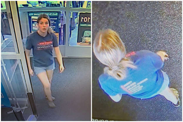 Virginia police hunt woman who dumped bloody backpack filled with HUMAN REMAINS into store dumpster