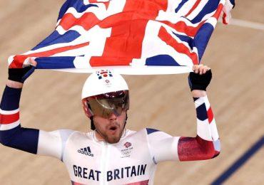 Team GB's Matt Walls wins omnium cycling gold
