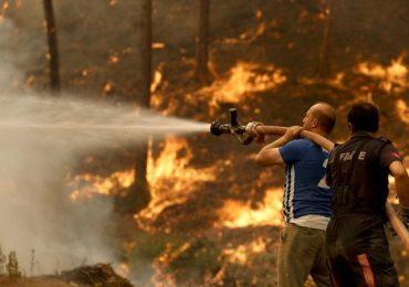 Firefighters in Turkey tirelessly battle forest fires amid heatwave