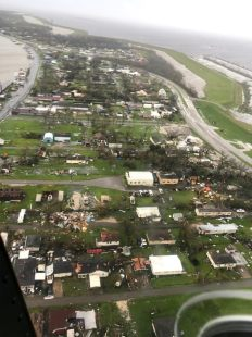 Aerial video and images showed some of the destruction from the Category 4 hurricane