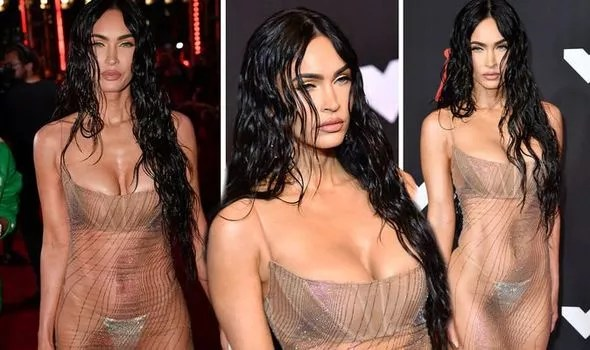 Megan Fox, 35, drives fans crazy on red carpet with SEE-THROUGH dress at VMAs 2021