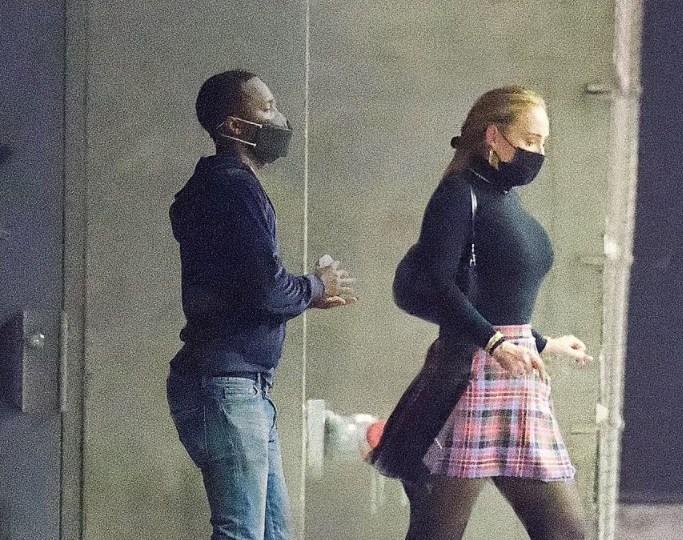 Leggy Adele enjoys date with new love Rich Paul