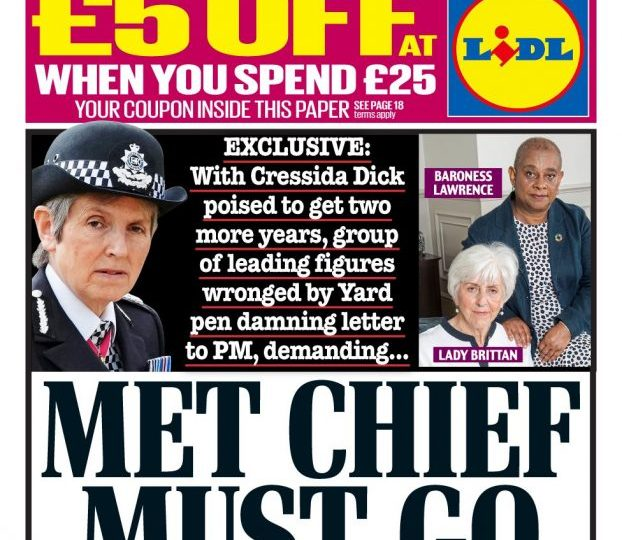 Daily Mail - 'Met Chief Cressida Dick Must Go'