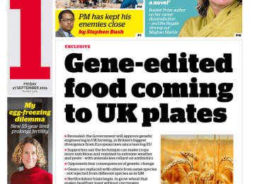 The i - 'Gene-edited food coming to UK'