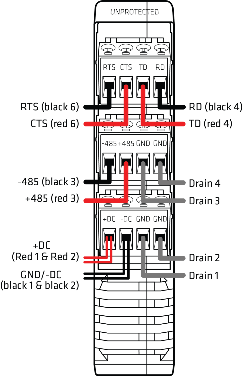 medium resolution of this figure shows the wiring diagram for the click 200 surge protector