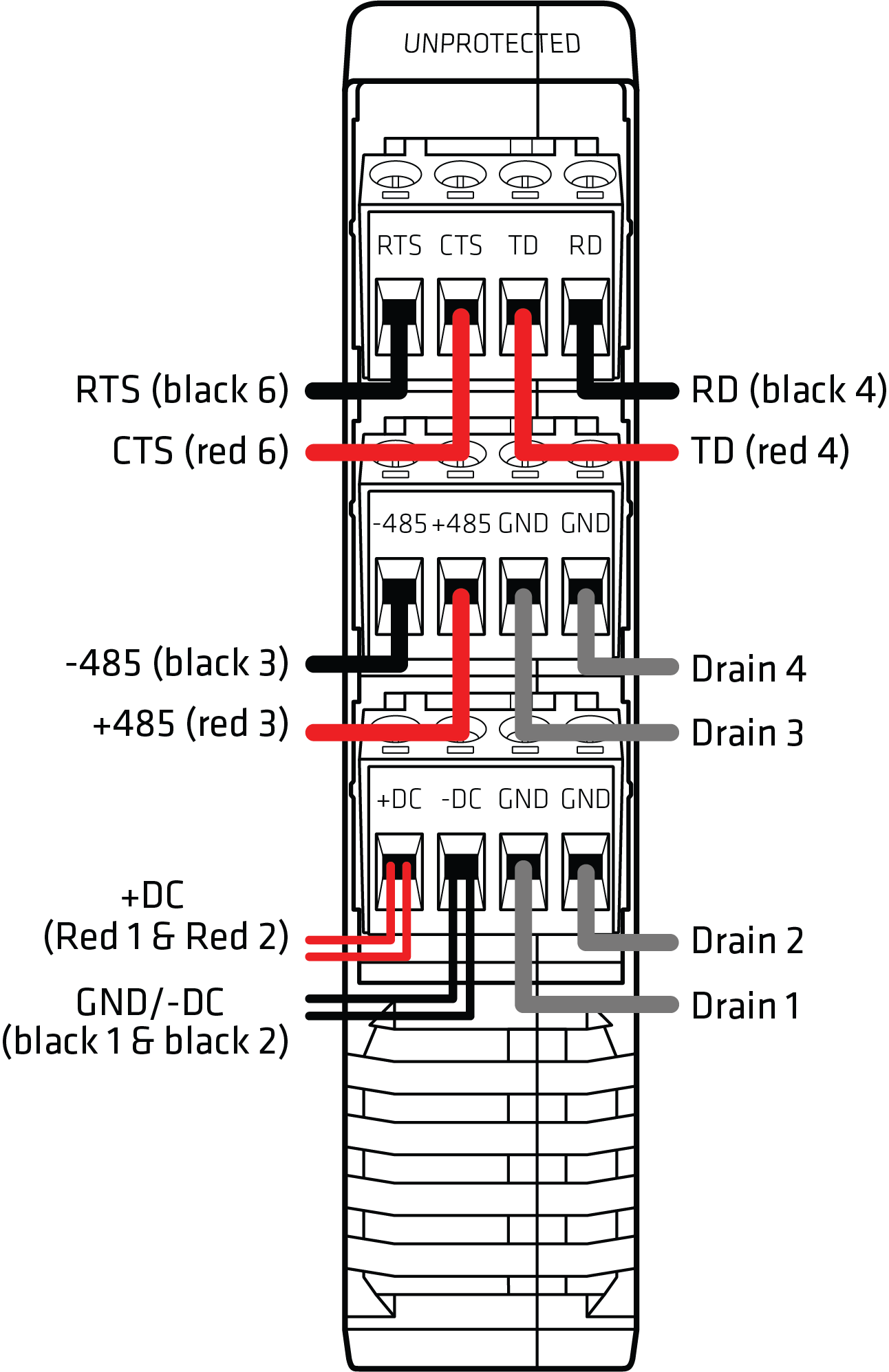 hight resolution of this figure shows the wiring diagram for the click 200 surge protector