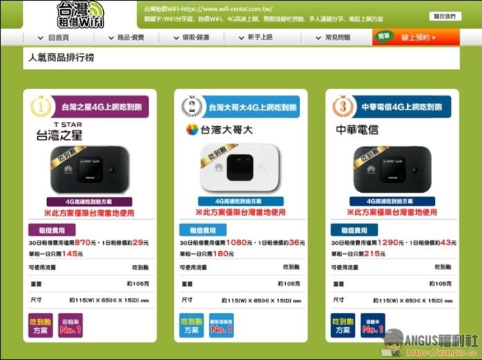 台灣租借WiFi機
