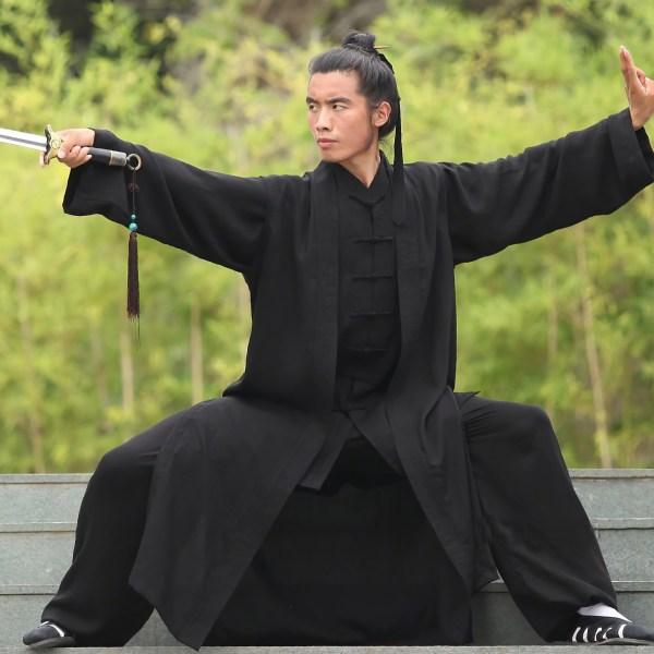 Traditional Wudang Tai Chi Uniform Black