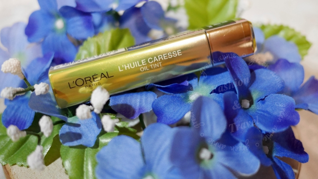 巴黎萊雅3D玩色精油唇萃,一上市就缺貨,#801嫩黃、#809湛藍試色