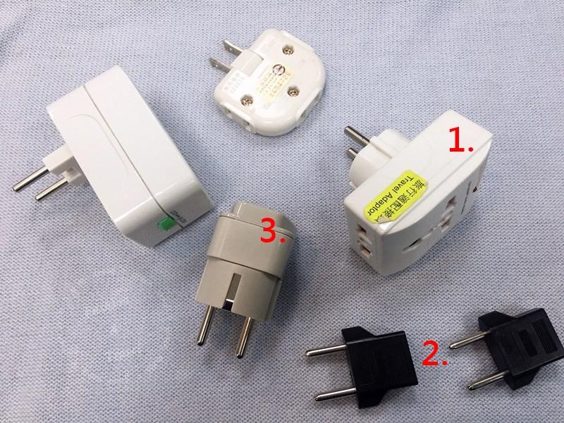 韓國自由行,行前準備~韓國插座、韓國電壓220V,插頭圓形二孔~實際測試那些萬國插頭最適用
