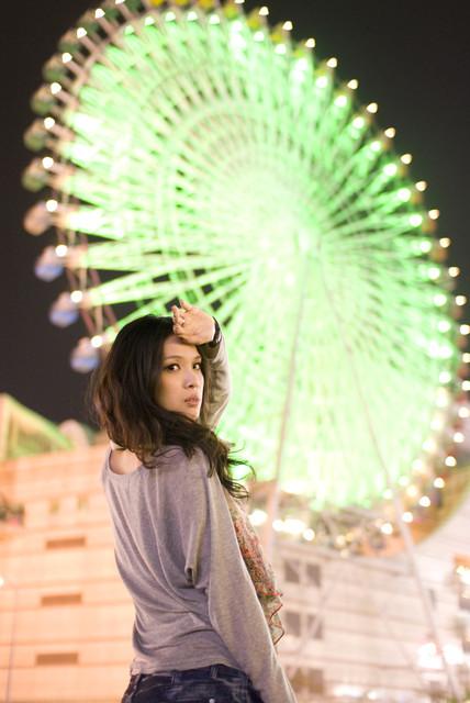 【攝影】可蕾閃燈練習~~當不專業model @吳大妮。Annie