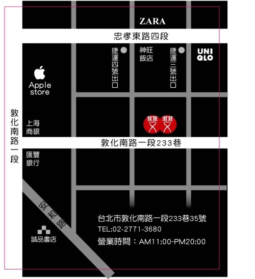 FitFlop敦南店地圖