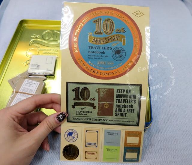 【開盒】 Traveler's Notebook 10周年限量紀念鐵盒組-袖珍駝本 @吳大妮。Annie