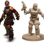 Artwork und 3D Modell der Miniatur - Horrible Games